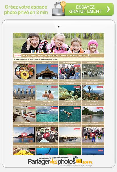 Partage photos privé en ligne pour la famille et les amis