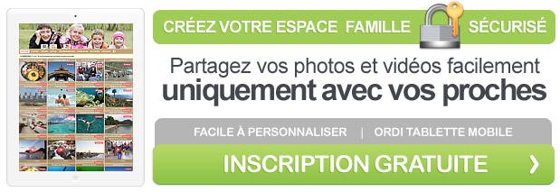 Créez votre espace privé, partagez vos photos en toute sécurité, uniquement avec vos proches