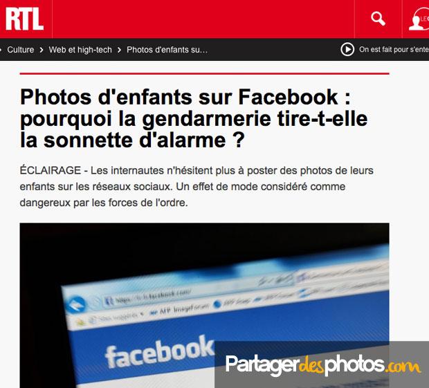 Partage photo privé : La gendarmerie alerte les parents sociaux qui partagent des photos de leurs enfants sur Facebook