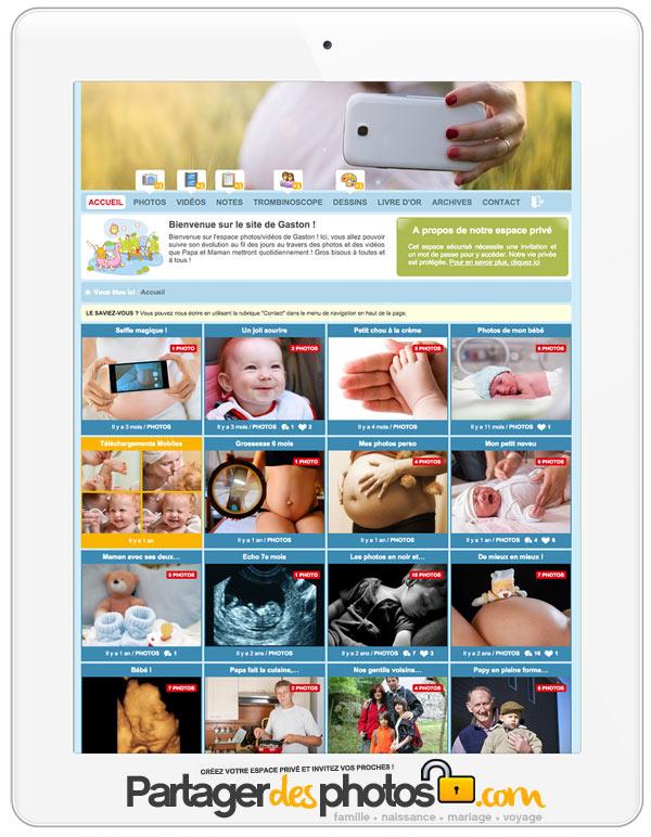 Journal de grossesse en ligne pour partager avec sa famille et ses amis