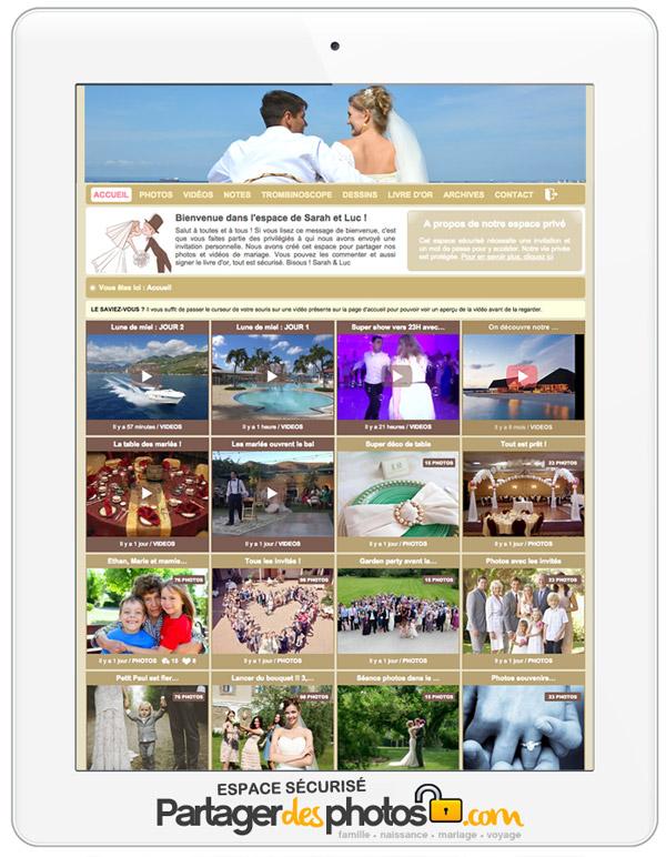 Pour éviter de retrouver votre mariage dans Google images, créez votre blog de mariage sécurisé