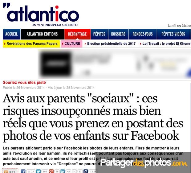 Photos de vacances sur Facebook : Les risques insoupçonnés des parents sociaux sur Atantlico