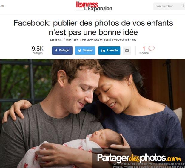 Publier des photos de ses enfants sur Facebook n'est pas une bonne idée