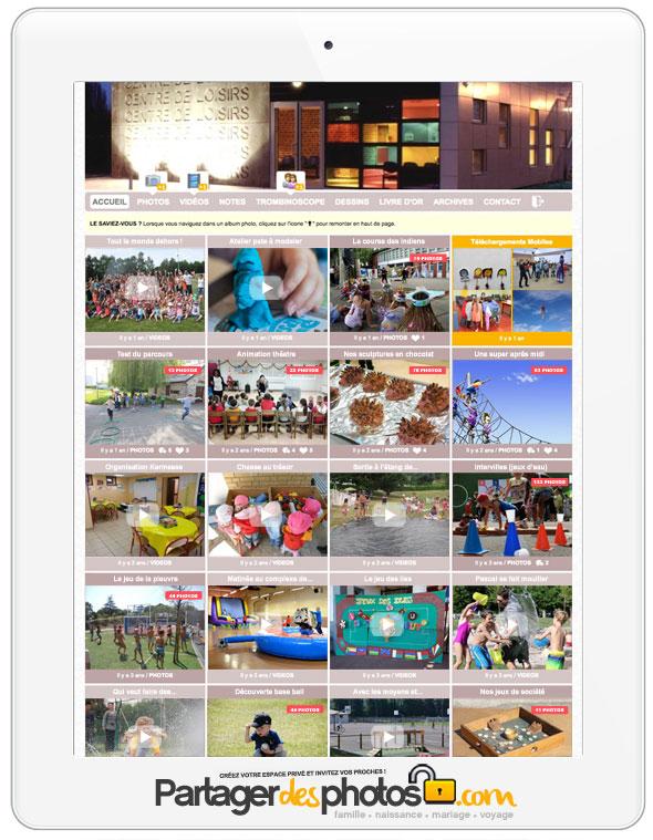 Un blog de centre de loisirs sécurisé avec partage photos et vidéos privé