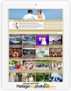 Site de mariage personnalisé
