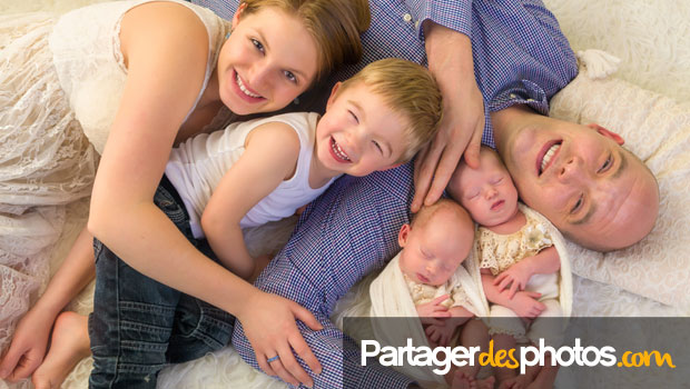 Partage de photos de bébé seulement avec ses proches