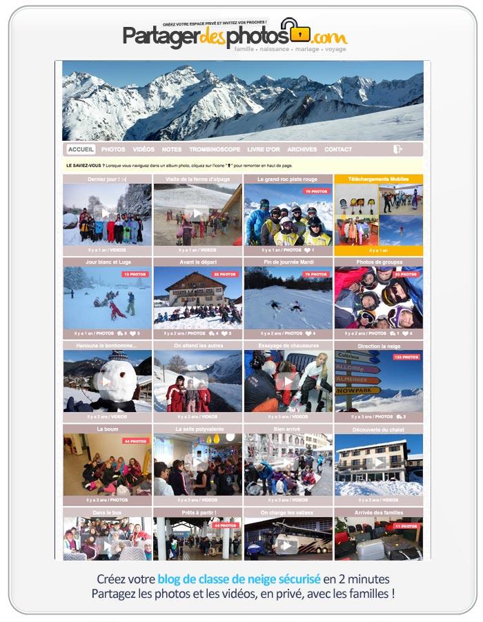 Un espace de voyage en ligne pour stocker et partager albums photos et vidéos en toute sécurité avec ses proches