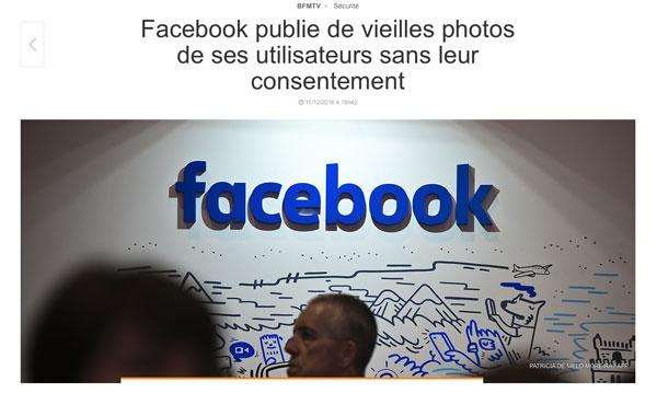 Facebook publie de vieilles photos de ses utilisateurs sans leur consentement