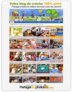 Blog de crèche privé, seulement accessible aux parents