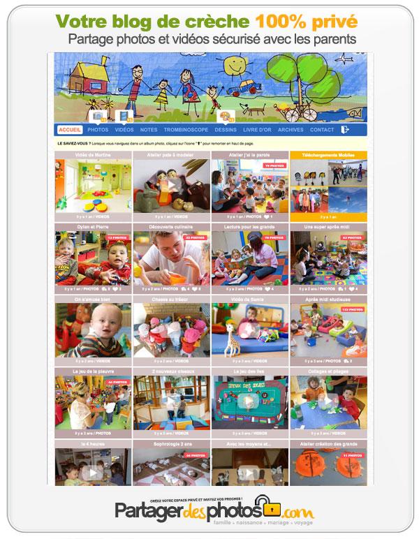 Blog de crèche : créez votre espace photos et vidéos sécurisé et partagez avec les familles en toute sécurité !