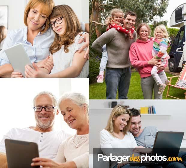 Partage sécurisé : Idéal pour garder le contact avec sa famille et ses amis, à distance, après un déménagement ou une expatriation