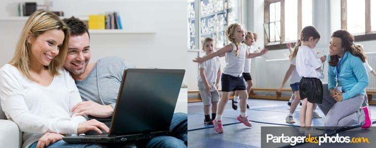 Espace périscolaire privé et sécurisé pour partager sans risque avec les parents