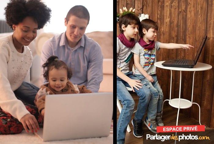 La création d'un espace de partage photos privé offre les garanties nécessaires pour partager avec ses proches, en toute sécurité.