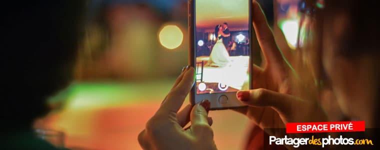 Partage de vidéo de son mariage : publiez vos vidéos dans votre espace privé et partagez avec vos invités facilement et de façon sécurisée.