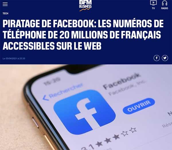 Piratage de Facebook : les numéros de téléphone de 20 millions de français accessibles sur le web